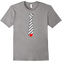 Men's Tie Valentines Day T-shirt Gift for Men, Boys And Kids 2XL Slate
