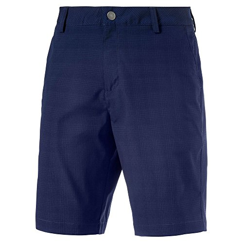 Puma Men's Tailored Mesh Golf Shorts-Peacoat-Size 34 - Short Peacoat
