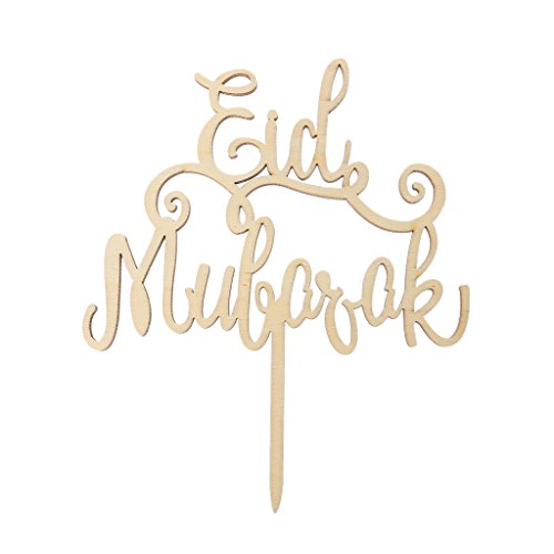 SQLang Wood Eid Mubarak Ramadan Wedding Cake Topper Muslim Islam Hajj Decoration Craft
