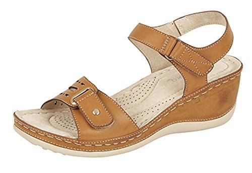 Boulevard - Zapatos con correa de tobillo mujer Marrón - canela