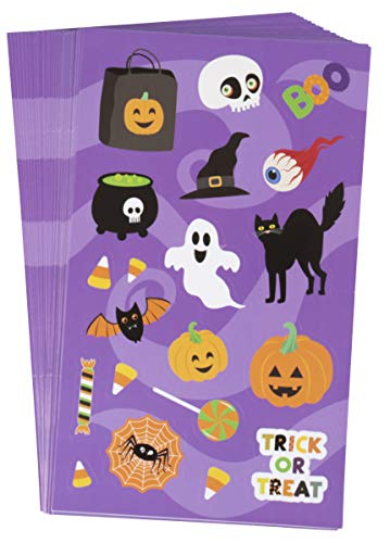 Juvale Halloween Stickers - 36-Sheet Halloween Party Stickers for Kids, Festive Stickers for Student Rewards, Party Supplies, Trick-or-Treat, Goodie Bags, 720 Total Pieces -