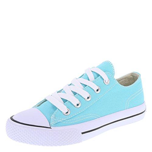 Turquoise Canvas Footwear - Airwalk Turquoise Canvas Kids' Legacee Sneaker 6 Regular