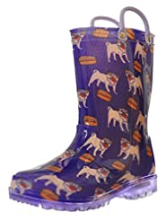 ZOOGS Children's Light Up Rain Boots for...