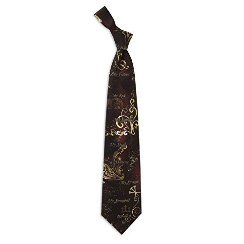 Eagles Wings Men's Finely Crafted Inspirational Necktie - My Rock My Strength