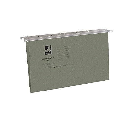 Q-Connect KF21004 - Carpetas colgantes con pestañas, (240x300 mm, 50 unidades): Amazon.es: Oficina y papelería