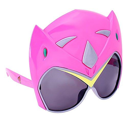 Mens Pink Power Ranger Costume (Sun-Staches Power Rangers Dino Charge Pink Ranger Costume Shades)