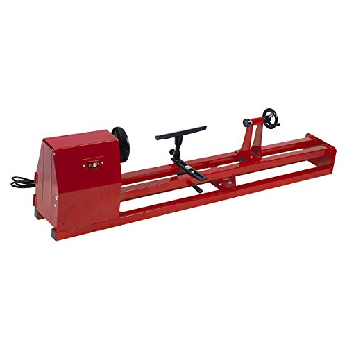 GHP 40'' 1/2HP 4-Speed 120V 60Hz Single Phase 2.9Amp Wood Turning Lathe Machine by Globe House Products