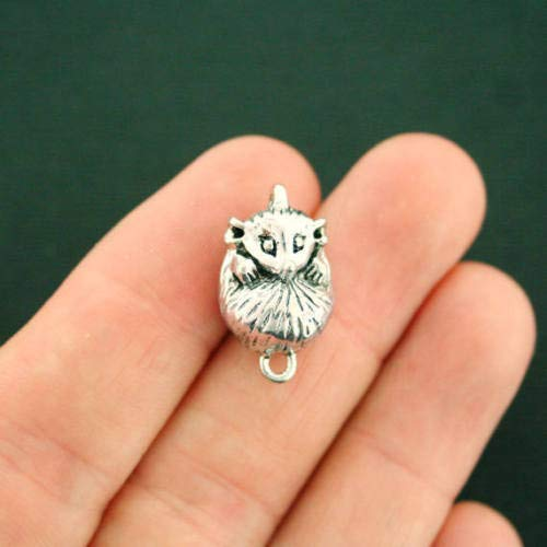 (Jewelry Making 2 Possum Connector Charms Antique Silver Tone 3D Just Adorable - SC5288 Perfect for Pendants, Earrings, Zipper pulls, Bookmarks and Key Chains)