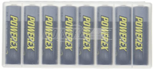 Powerex MH-8AA270-BH Powerex AA 2700mAh 8-Pack Rechargeable Batteries