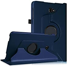 Fintie Samsung Galaxy Tab A 10.1 Case - Premium PU Leather 360 Degree Rotating Swivel Stand Cover Auto Sleep/Wake for Galaxy Tab A 10.1-Inch (SM-T580 / SM-T585) Tablet 2016 Release, Navy