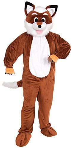 Forum Novelties Men's Promotional Fox Mascot Costume, Brown/White, One Size (Mascot Costumes)