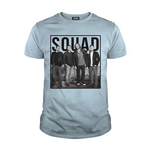 Zoko Apparel Men's Squad Supernatural T-Shirt (XL, Light Blue) -