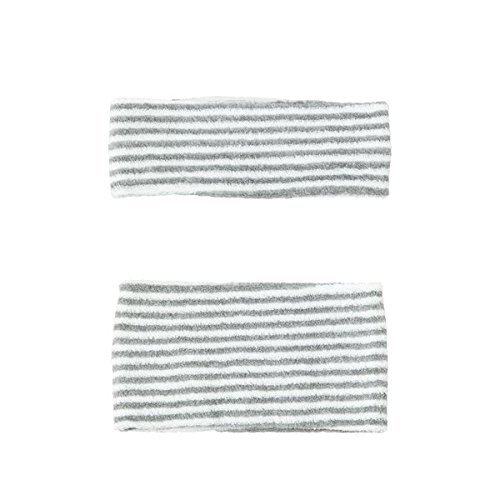 Stretch Headband Cosmetic washing Gray stripe product image
