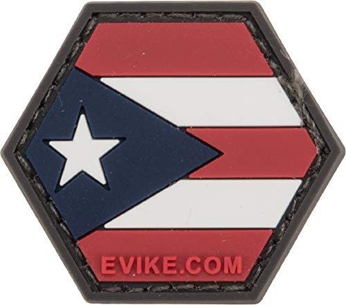 Evike Operator Profile PVC Hex Patch Flag Series (Country: Puerto Rico)