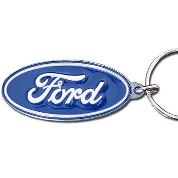 Amazon.com: Ford Blue Oval Premium Pewter Llavero: Automotive