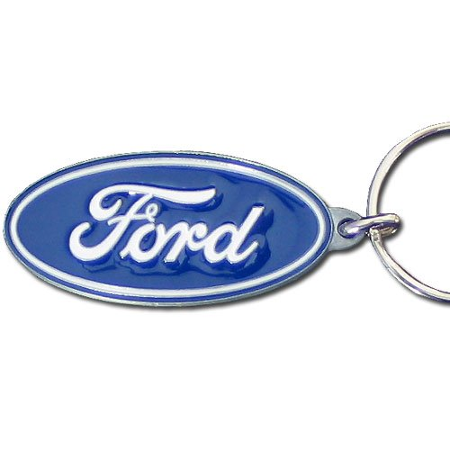 Ford Blue Oval Premium Pewter (Oval Pewter Keychain)