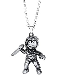 Child's Play Curse of Chucky Necklace Vintage Metal Doll Pendant Necklace (nl005848)