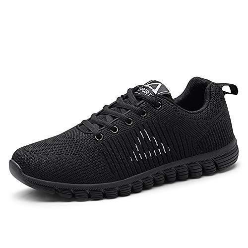Chaussures 42 Sneakers Flying gris Plat Talon Extérieur De Filet Maille lacets En Course noir Homme Bleu Pour Pied Noir À blanc Printemps automne ABwXqxp
