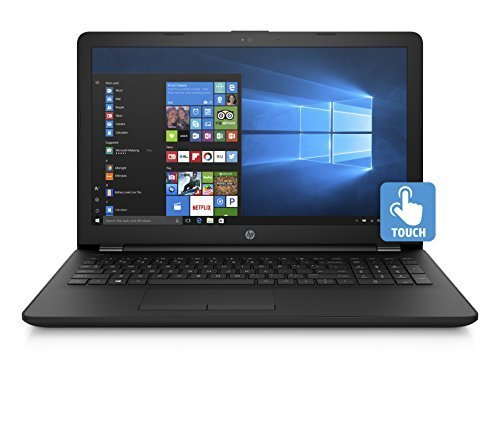 2018 HP 15.6 Inch Touchscreen Flagship Notebook Laptop Computer (Quad-Core Pentium N3710 1.6GHz, 4GB RAM, 128GB SSD, Intel HD, WiFi, HD Webcam, Super DVD Burner, Windows 10) Black