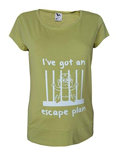 Grossesse/maternité Taille 10–20 coton pour bébé Motif de Prison de Top, tunique T-Shirt Vert citron