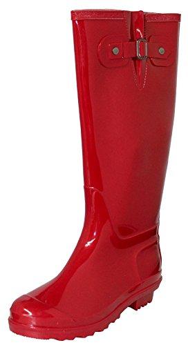 Womens Gummivanntette Regnstøvler, 15 1/2 Inches Rød