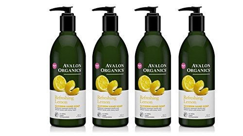 Avalon Organics Lemon Glycerin Hand Soap, 12 Ounce Bottles (Pack of 4) ()