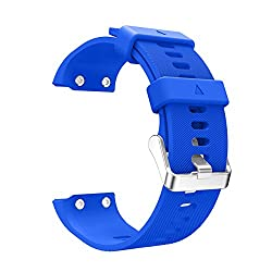 ArMordy Replacement Wristband Watch band Wrist strap Silicagel Soft Band Strap For Garmin Forerunner 35 Watch[ blue ]