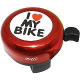 Buzina WG Sports Trim Trim I Love My Bike Vermelho
