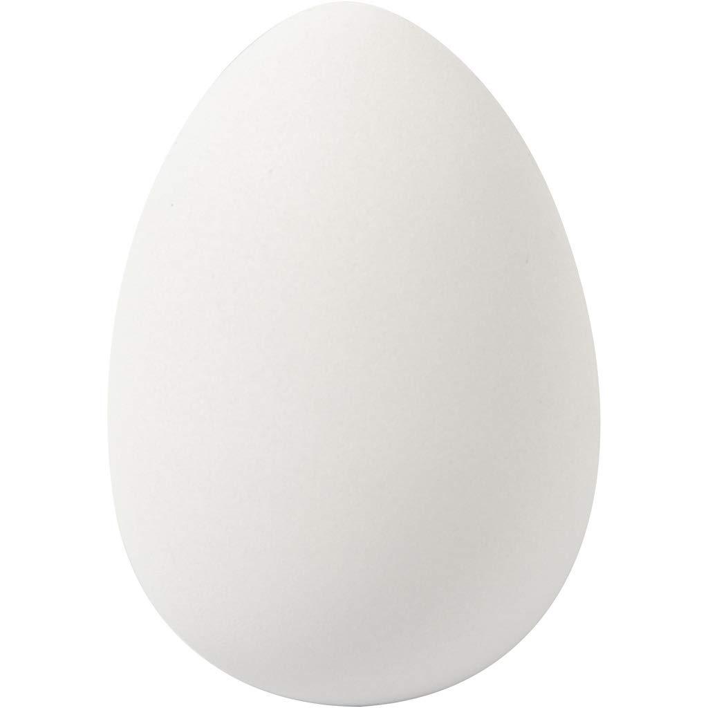 Uova in plastica grande 8 uova incluse profondit/à: 6 cm altezza: 8 cm Creativ bianco