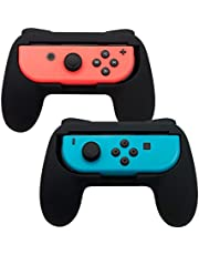 TOMSIN Grips for Nintendo Switch Joy-Con, Wear-Resistant and Non-Slip Matte Surface Handle Kit for Switch Joy Con Controllers 2-Pack