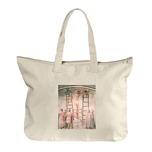 Christ And St John (Bellini) Canvas Beach Zipper Tote Bag - Center St John Shopping