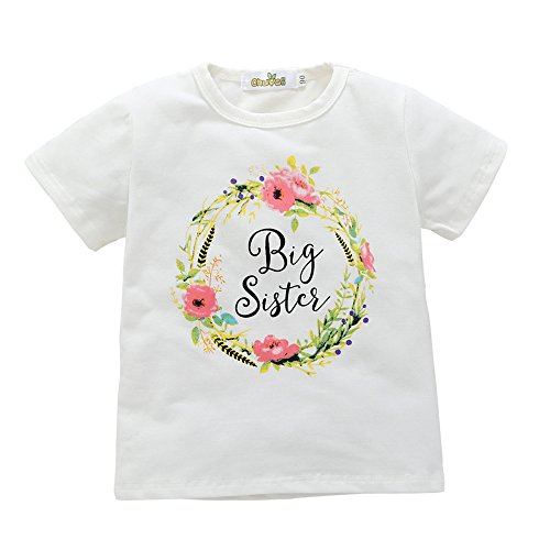 Little Sky Little Sister Big Sister Matching Floral Print Outfit, Big Sister Shirt, 100/3-4Y - Matching Toddler Outfits