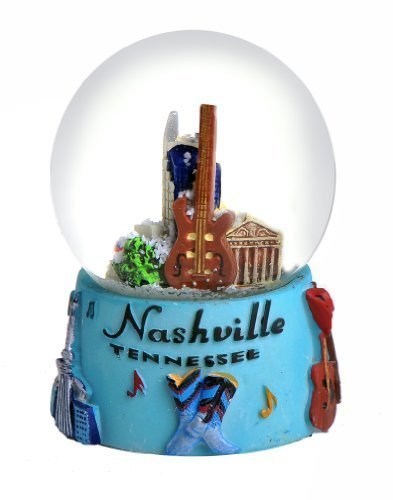 Nashville in Color 65mm Snow Globe