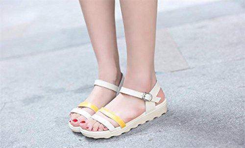 d'¨¦t¨¦ simple dames de pengweiSandales Chaussures romaines 3 les appartement avec chaussures dEOxfRq1