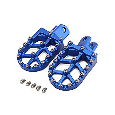 AnXin Foot Pegs Footpegs Footrest Foot Pedals Rests CNC MX For SUZUKI RM125 RM250 RM250Z RMX250 DR-Z400 DR-Z400E DR-Z400S DR-Z400SM KAWASAKI KLX400R Motorcycle Blue: Automotive