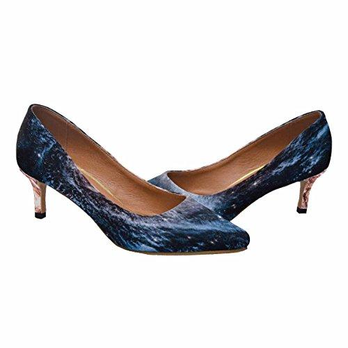 Scarpe Da Donna Low Cost Con Tallone Gattino A Punta Appuntita Scarpe A Palloncino Spirale Galaxy Multi 1