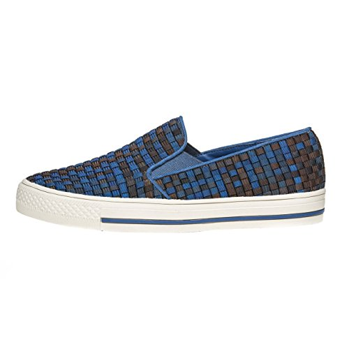 ZEE ALEXIS Abby Slip On, Black/Royal Multi, 39 M EU / 8.5-9 B(M) US