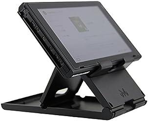 booEy Ständer / Halterung / Stand für Nintendo Switch, klappbar, kompakter Spielständer, Winkel verstellbar, schwarz