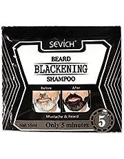 ranninao 15ml Beard Shampoo Black Beard Shampoo Beard Liquid Dye Barba Natural para el Cuidado de la Barba de los Hombres