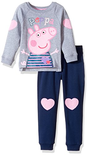 Peppa Pig Toddler Girls' Clothing Shop (Multiple Styles), Set Grey/Blue, 4T by Peppa Pig