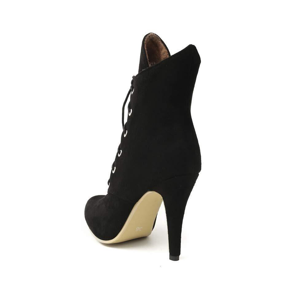 Amazon.com: DENER❤ Botas de tobillo para mujer, de ante ...