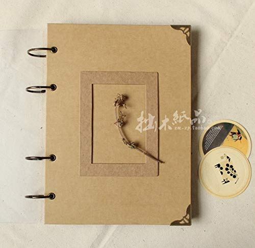 Vivona New hot Wedding Photo Album Handmade Photos A4 DIY Paste Type Personality Vintage Photo Album - (Color: All Craft Card)