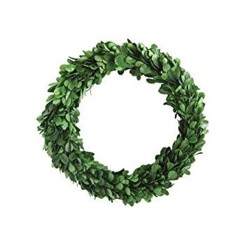 Creative Co-op DA5559 Round Boxwood Wreath, 9.75