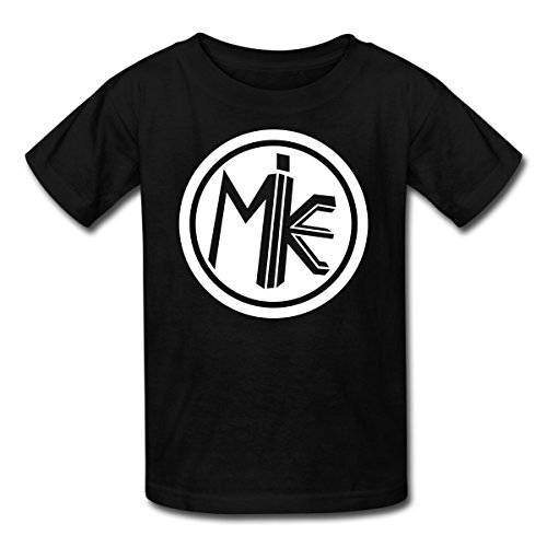 Spreadshirt Funnel Vision Mike Logo Kids' T-Shirt, L, Black -