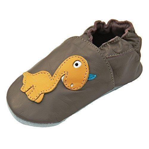 Jinwood designed by amsomo - Patucos de Piel para niña, color marrón, talla 26/27