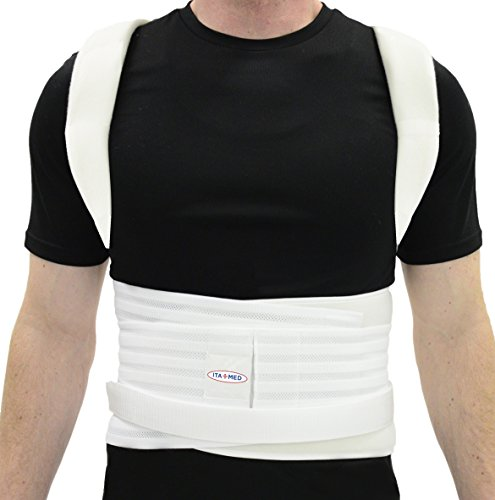 ITA-MED Complete Posture Corrector Back Support Brace for...