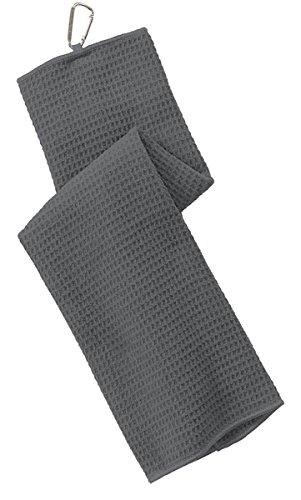 - Port Authority Men's Waffle Microfiber Golf Towel OSFA Deep Smoke