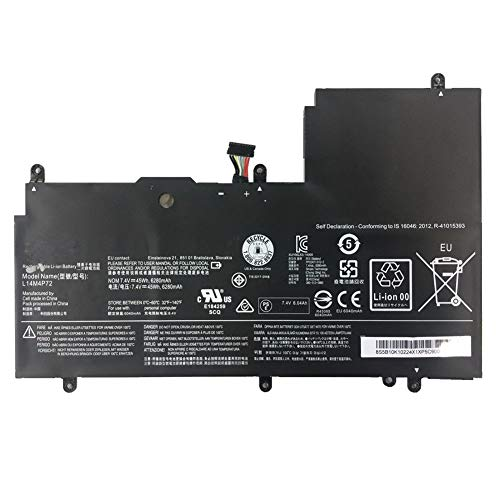 7XINbox 7.4V 45Wh 6280mAh L14M4P72 Replacement Battery For Lenovo Yoga3 14 Series