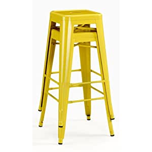 Tabouret 30 Inch Lemon Metal Bar Stools 36700437 9283123 Set O