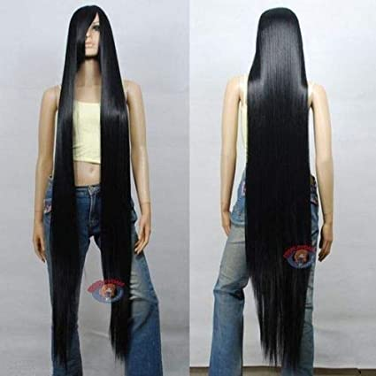60 inch High Temp 150cm Hot sell !! New Extra Long white Cosplay Wig